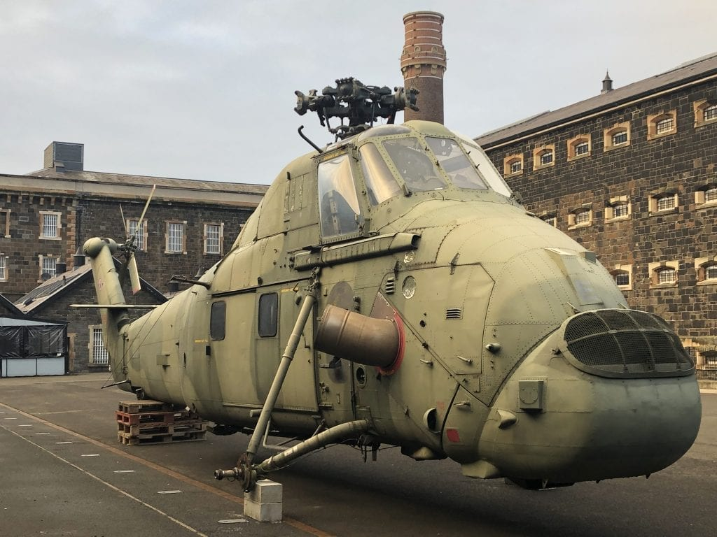 Wessex Helicopter Crumlin Road Gaol Belfast